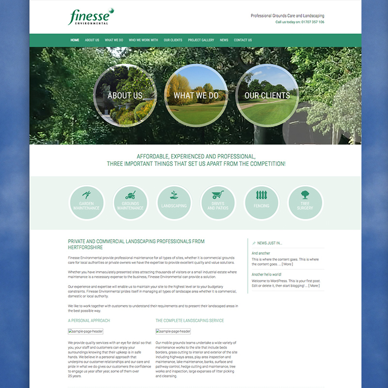 environmental website designers hertfordshire