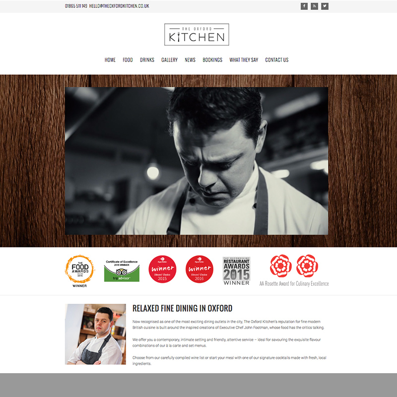 restaurant website designers oxford