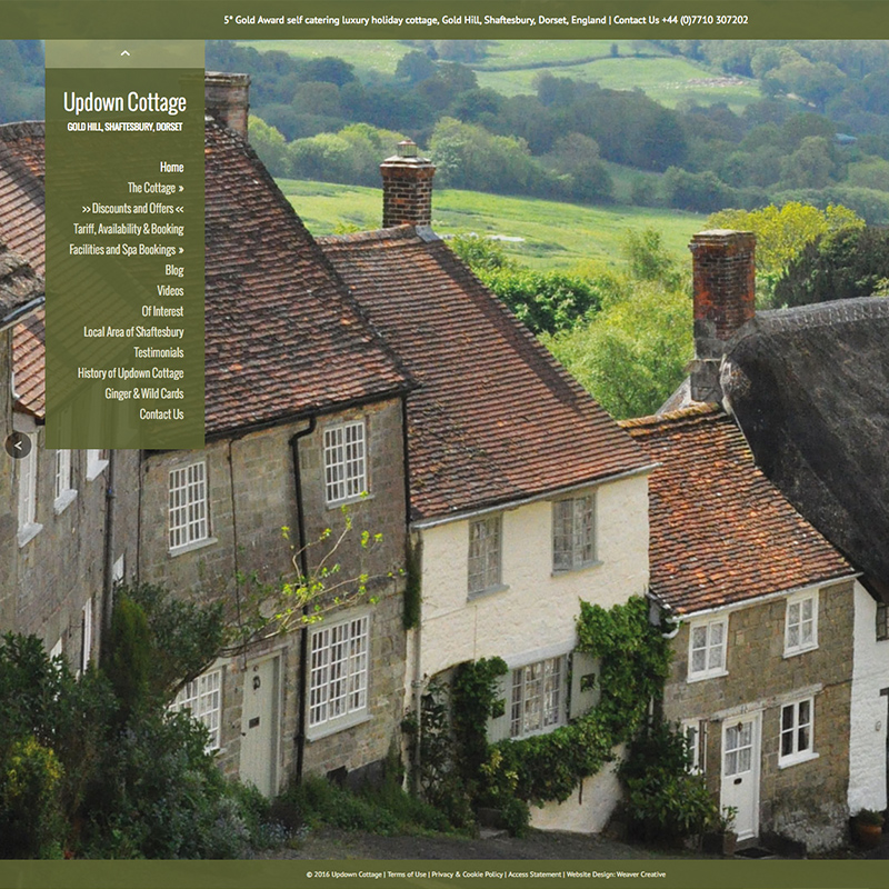holiday cottage website designers dorset